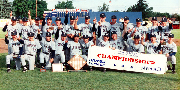 photo of Community Colleges of Spokane 1989 Baseball Team