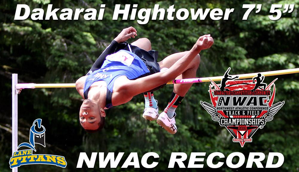 "Dakarai Hightower sets new NWAC high jump record of 7' 5"""