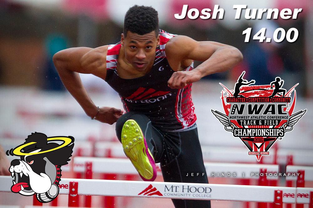 photo of Josh Turner in hurdles