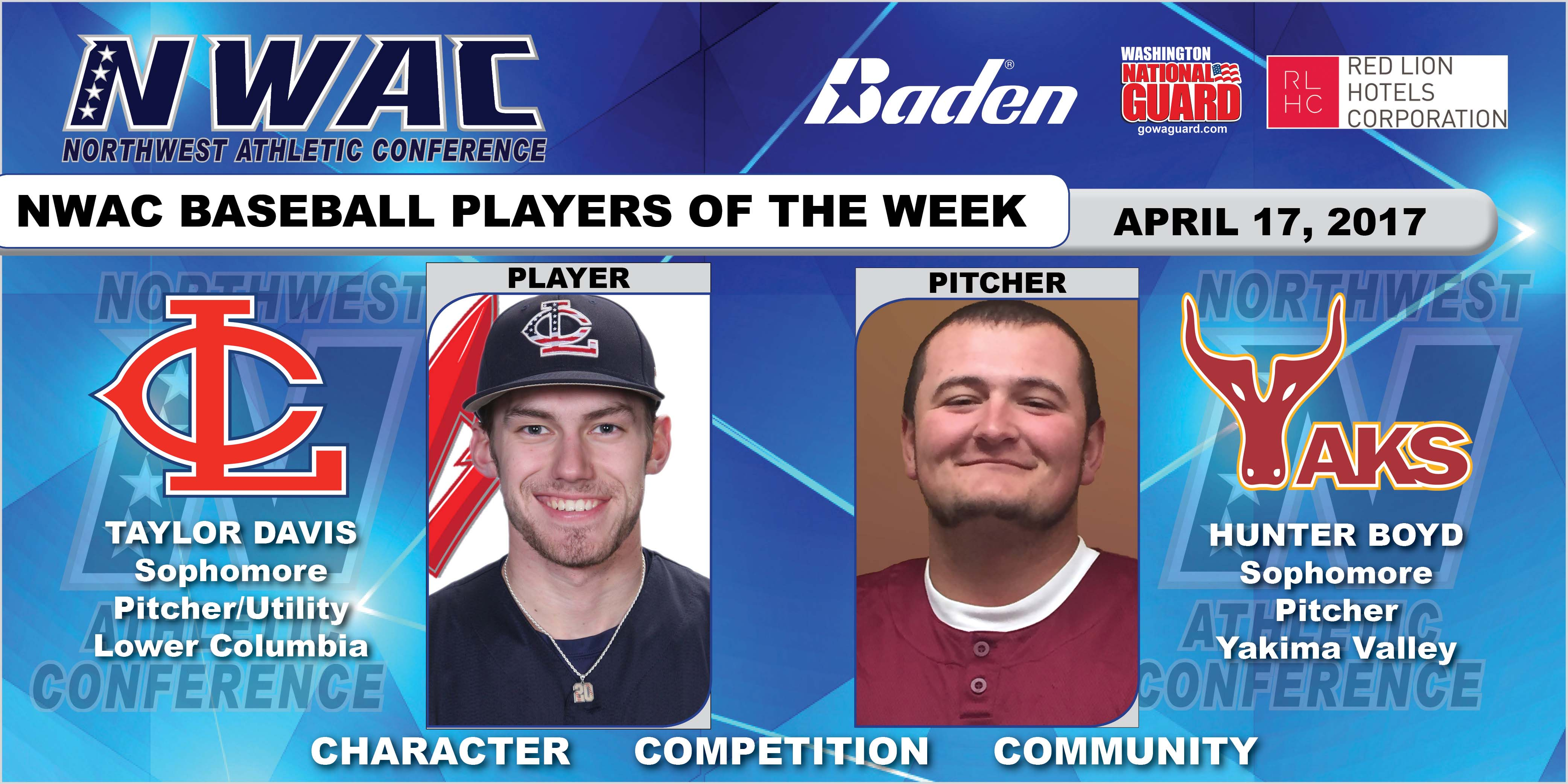 Taylor Davis and Hunter Boyd player of the week photo