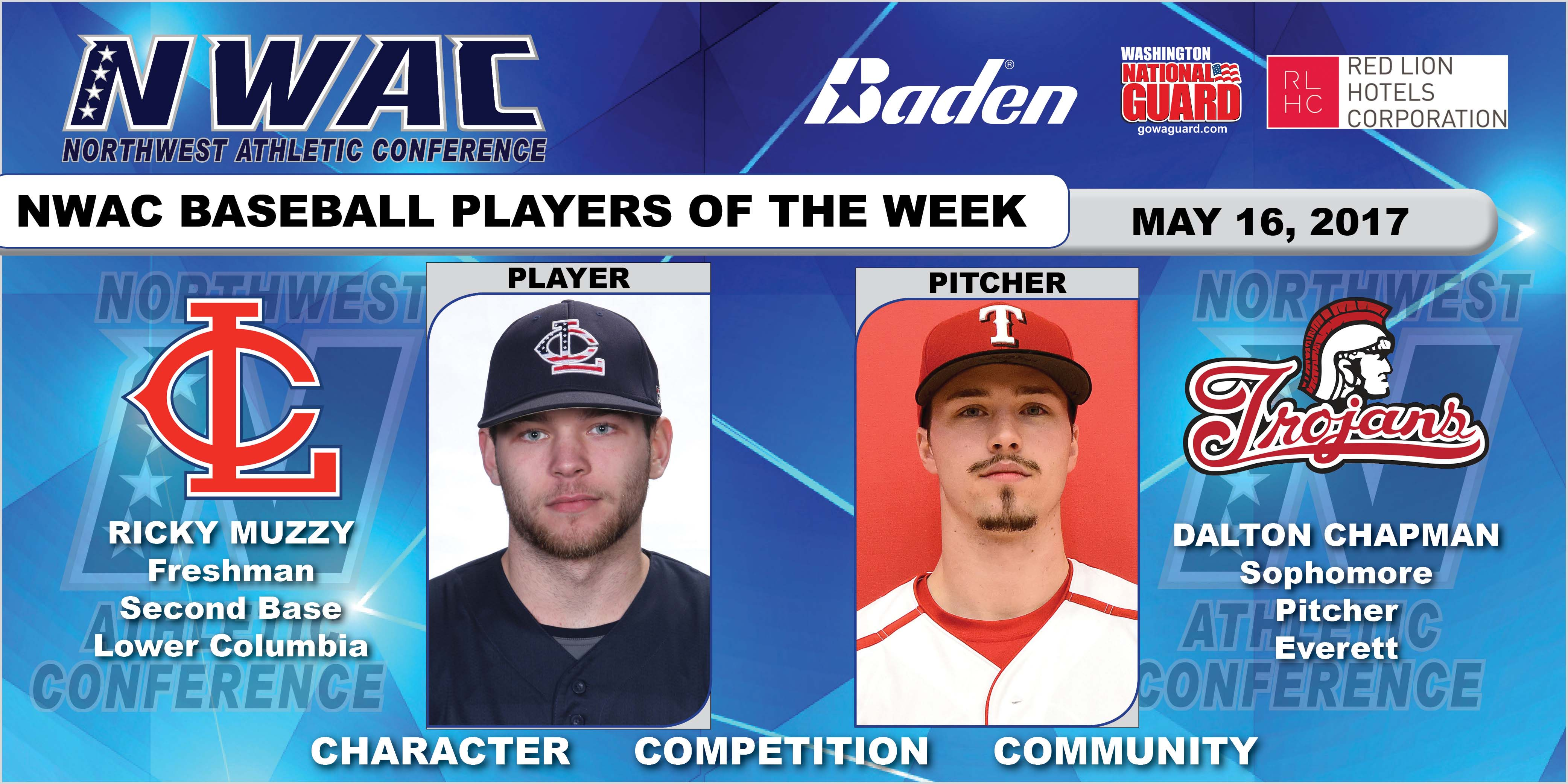Ricky Muzzy and Dalton Chapman players of the week collage