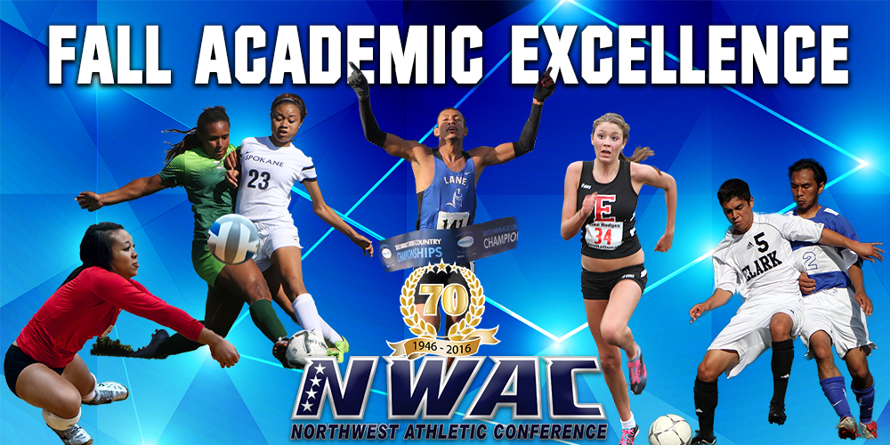 Fall Academic Excellence photo collage of athetes