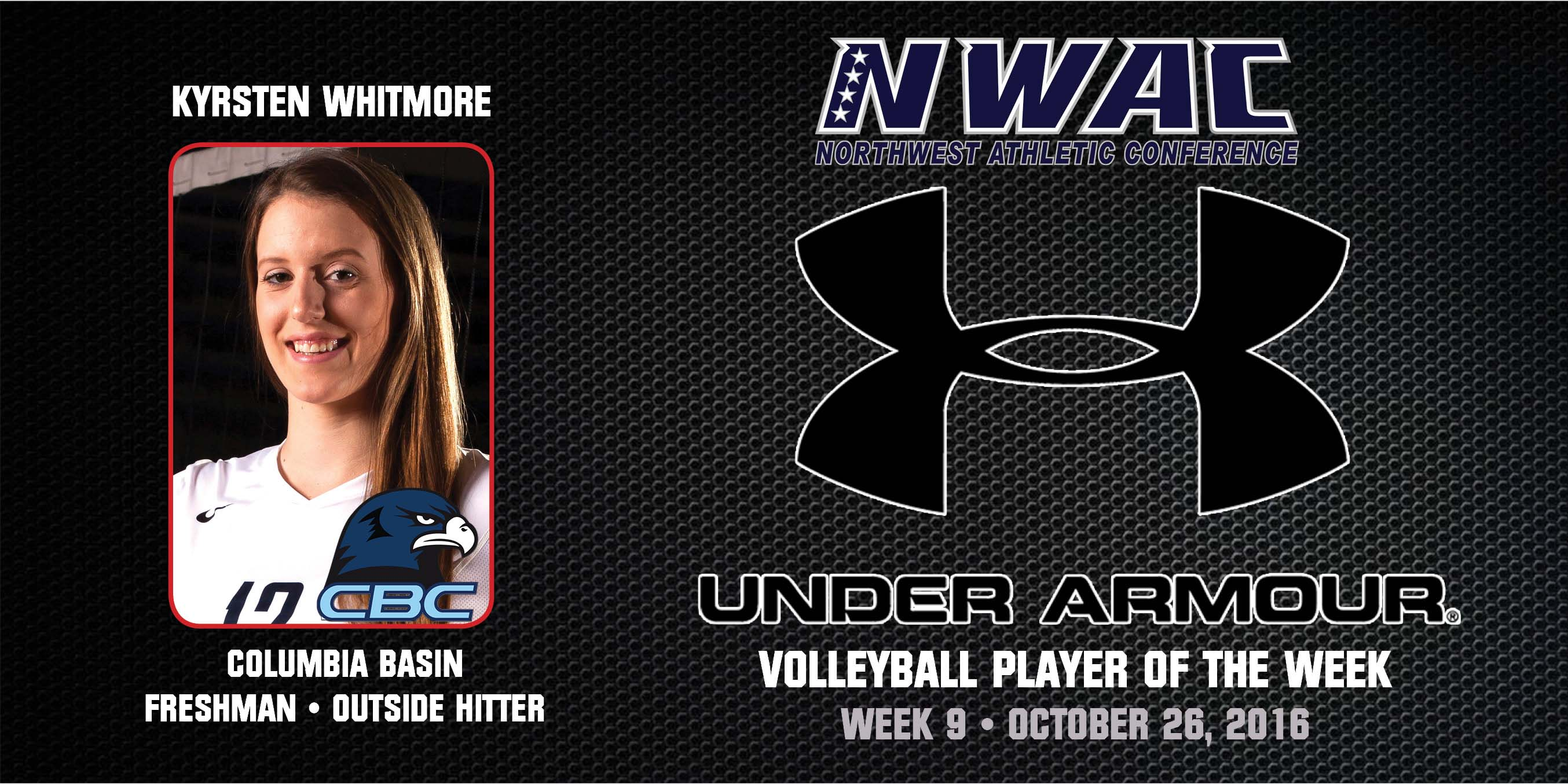 Kyrsten Whitmore Under Armour Player of the Week
