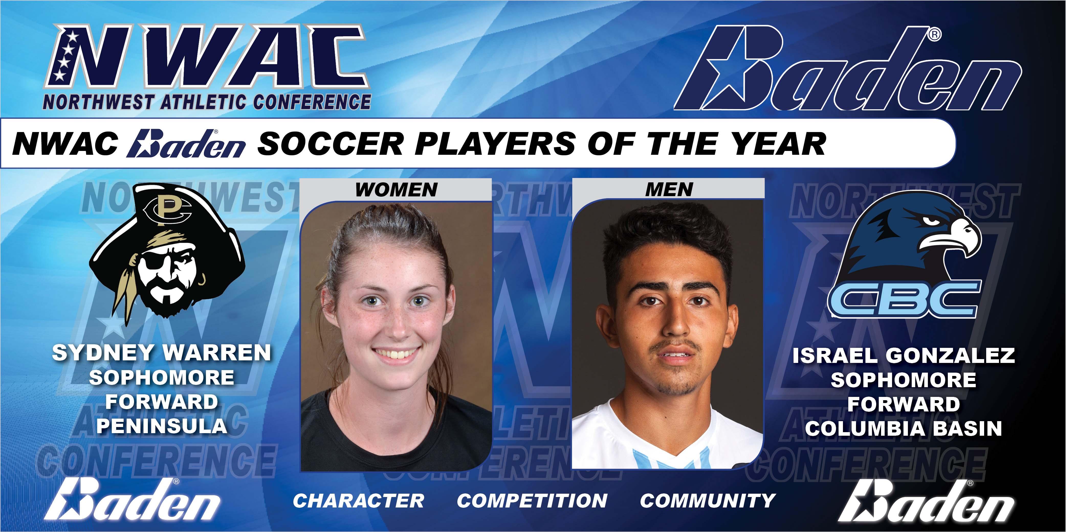 Sydney Warren & Israel Gonzalez Baden Soccer Players of the Year Graphic