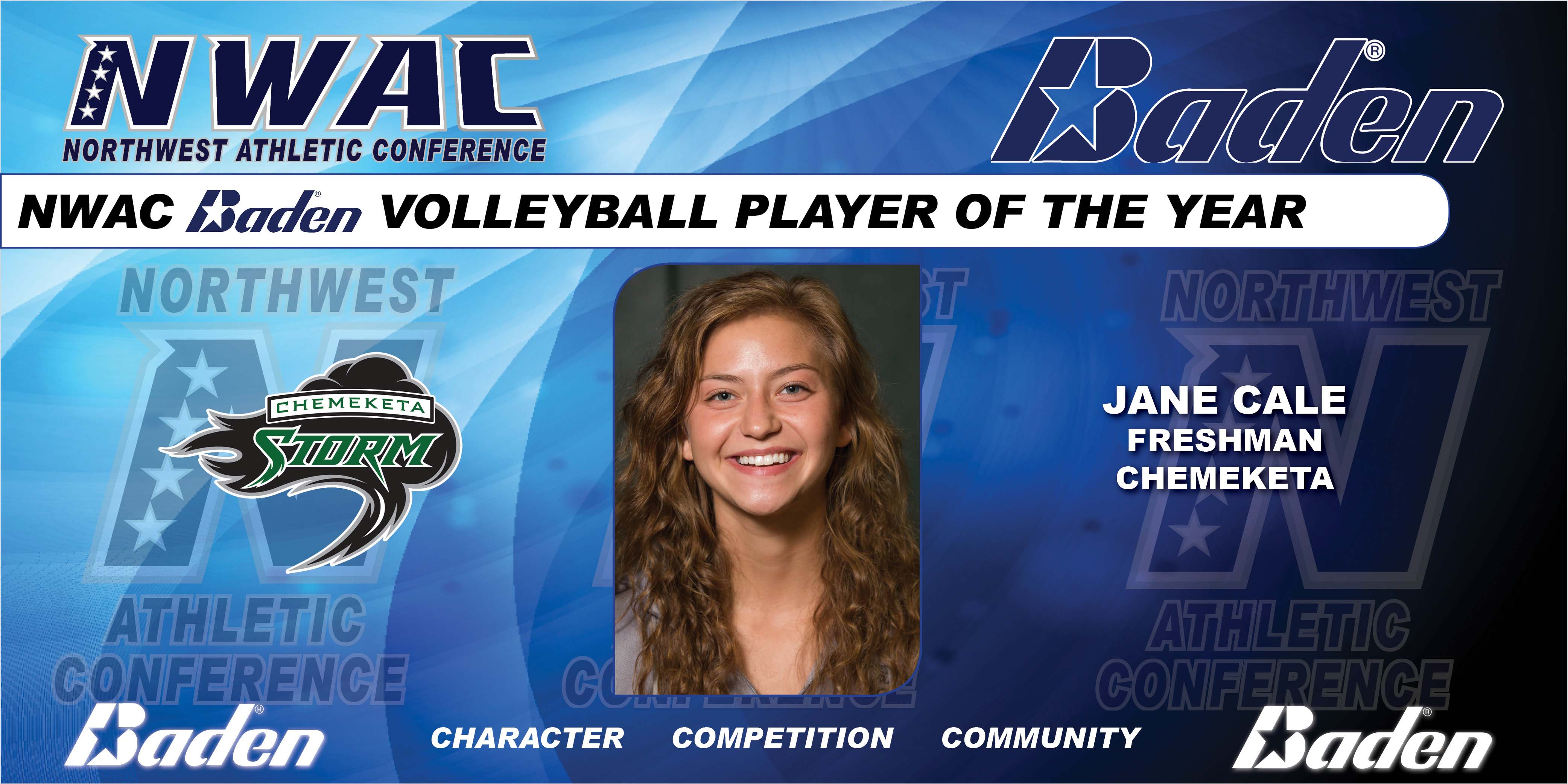 Jane Cale - Baden Volleyball Player of the Year Graphic