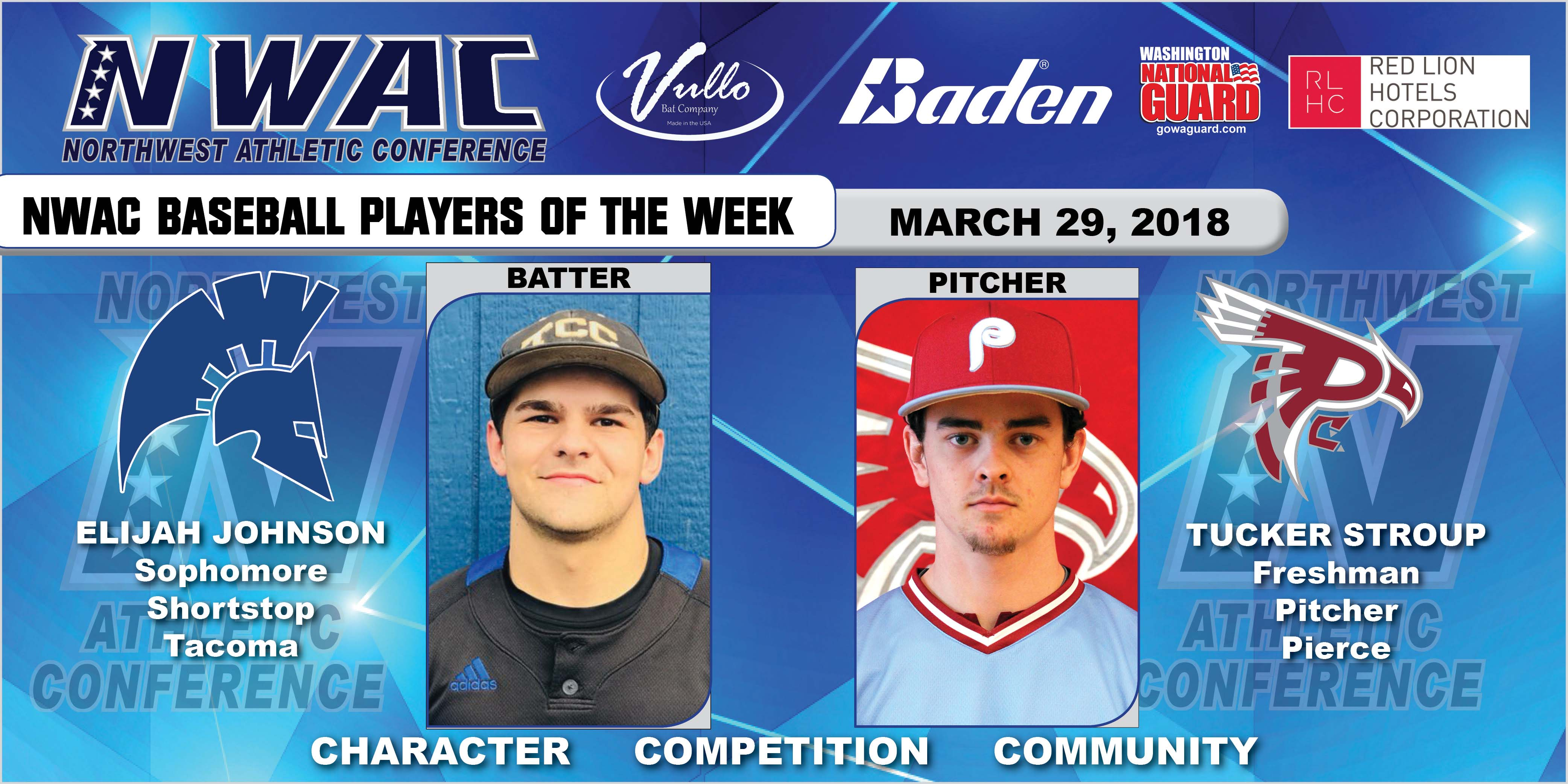 Elijah Johnson and Tucker Stroup players of the week collage