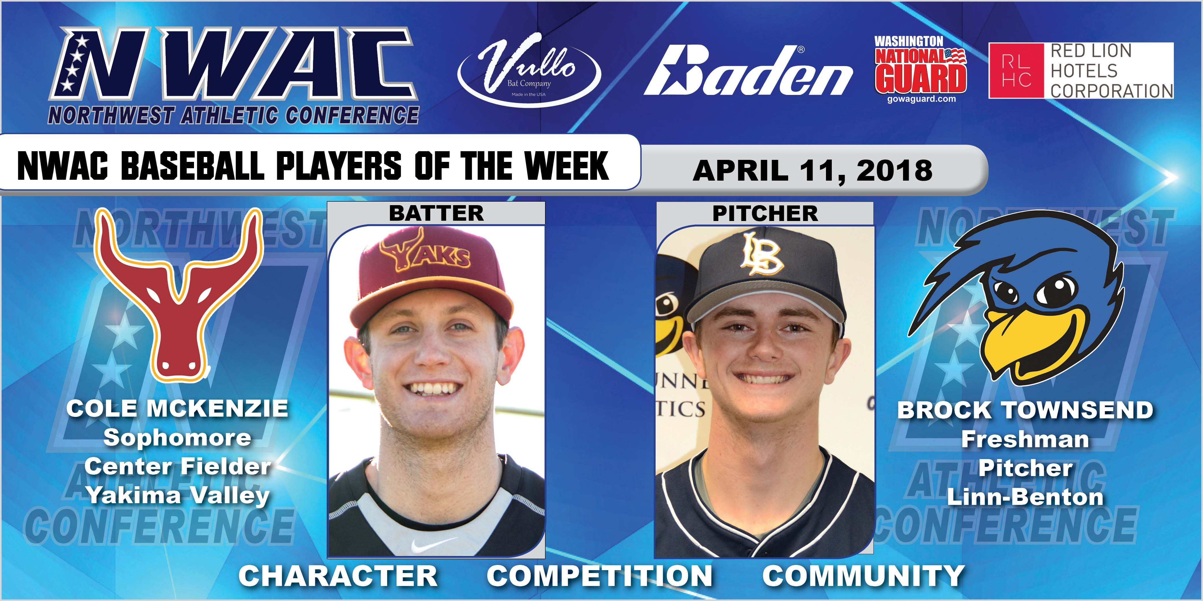 Cole Mckenzie and Brock Townsend players of the week collage