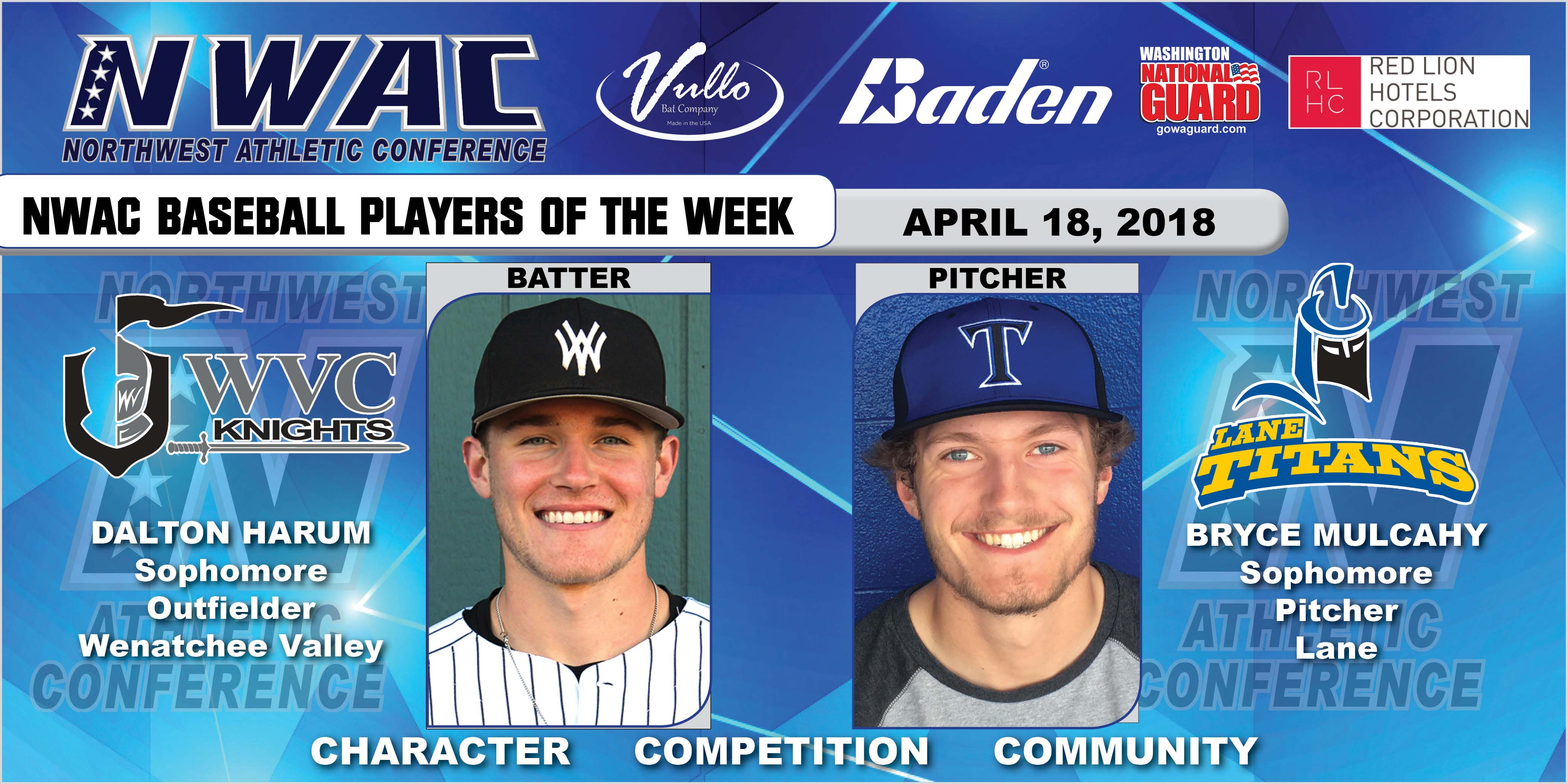 Dalton Harum and Bryce Mulcahy players of the week collage