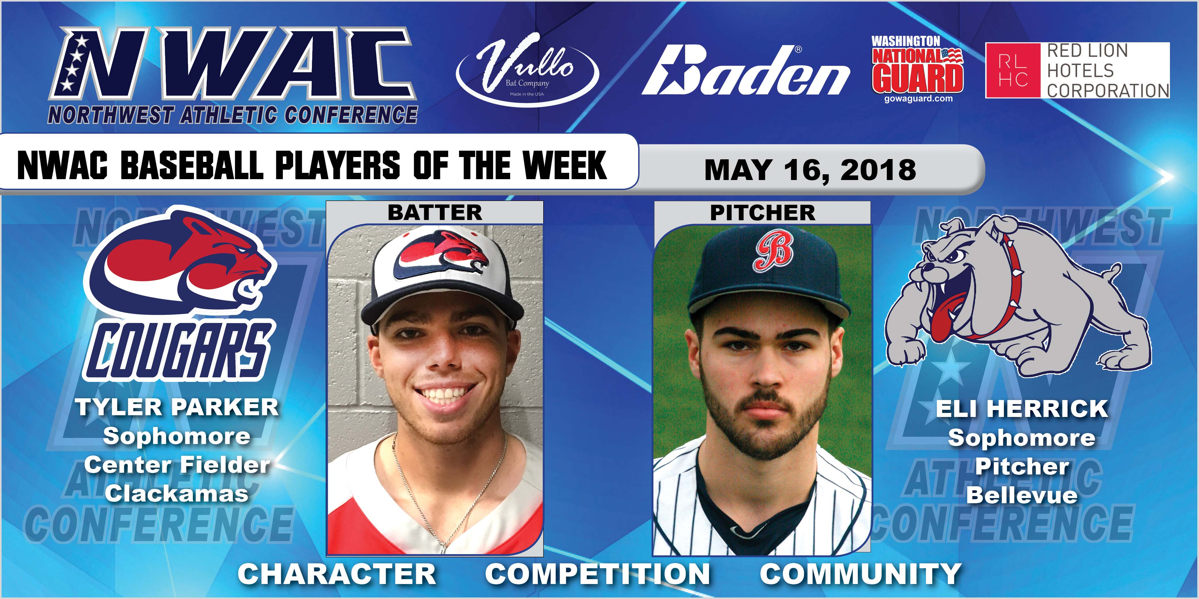 Tyler Parker and Eli Herrick players of the week collage