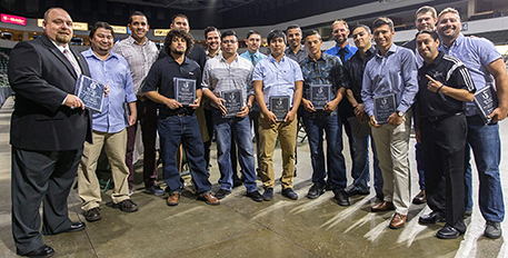 image of Wenatchee Valley 2005 Men's Soccer team after being honored at the Wenatchee Rotary Club Hall of Fame last year.