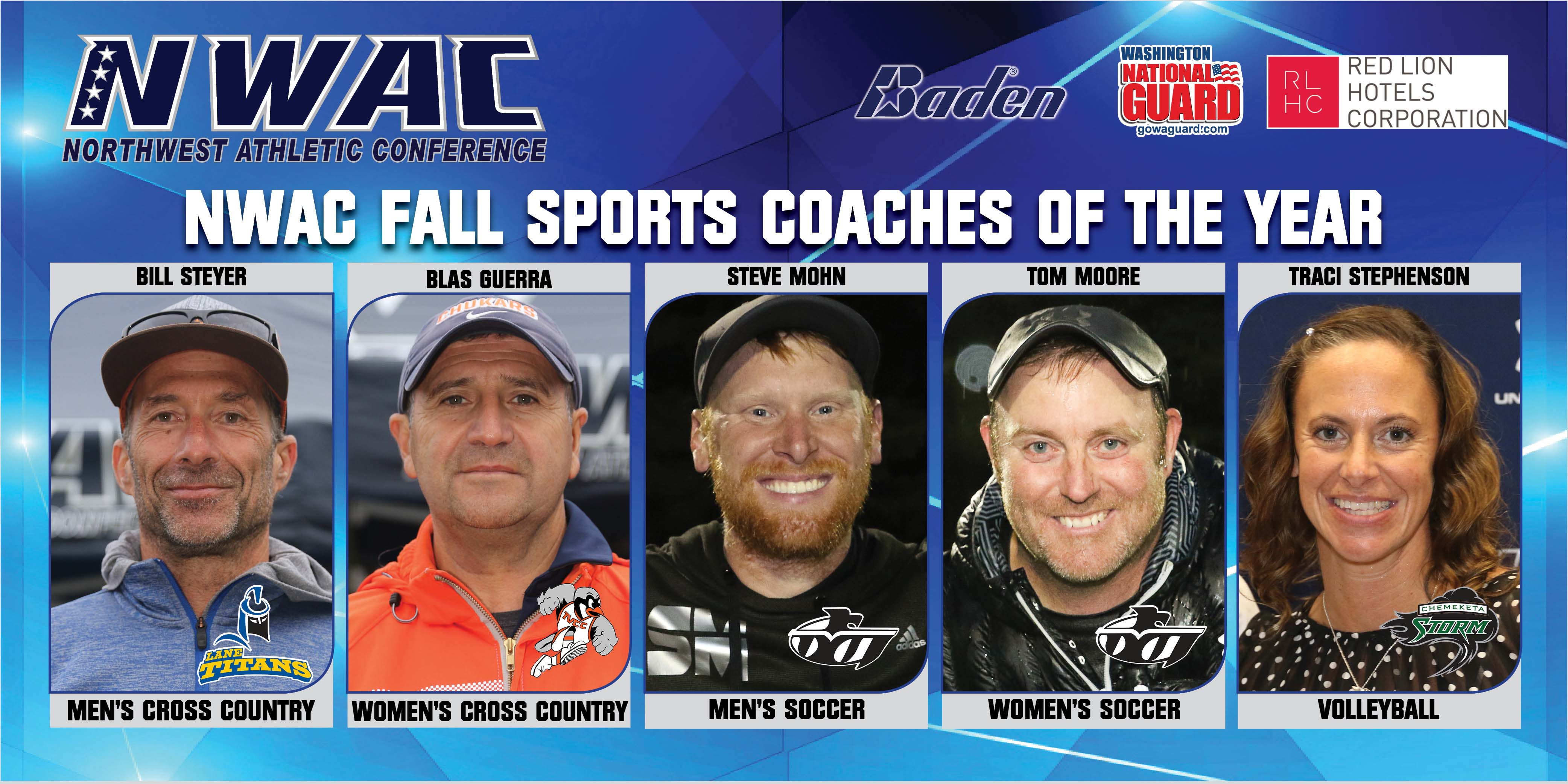 NWAC Coach of the Year Graphic and Coaches Photos