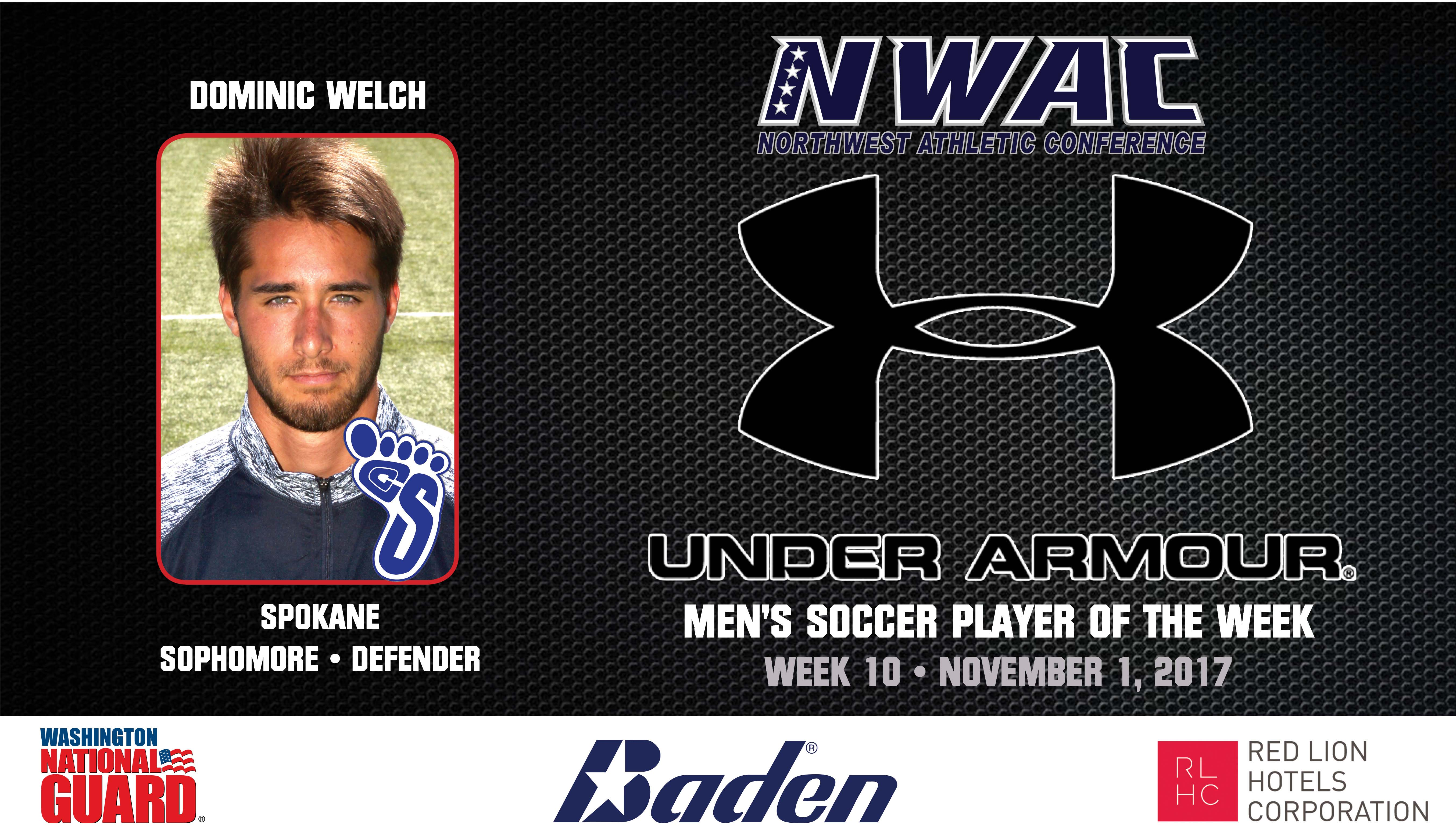 Dominic Welch Armour Player of the Week graphic
