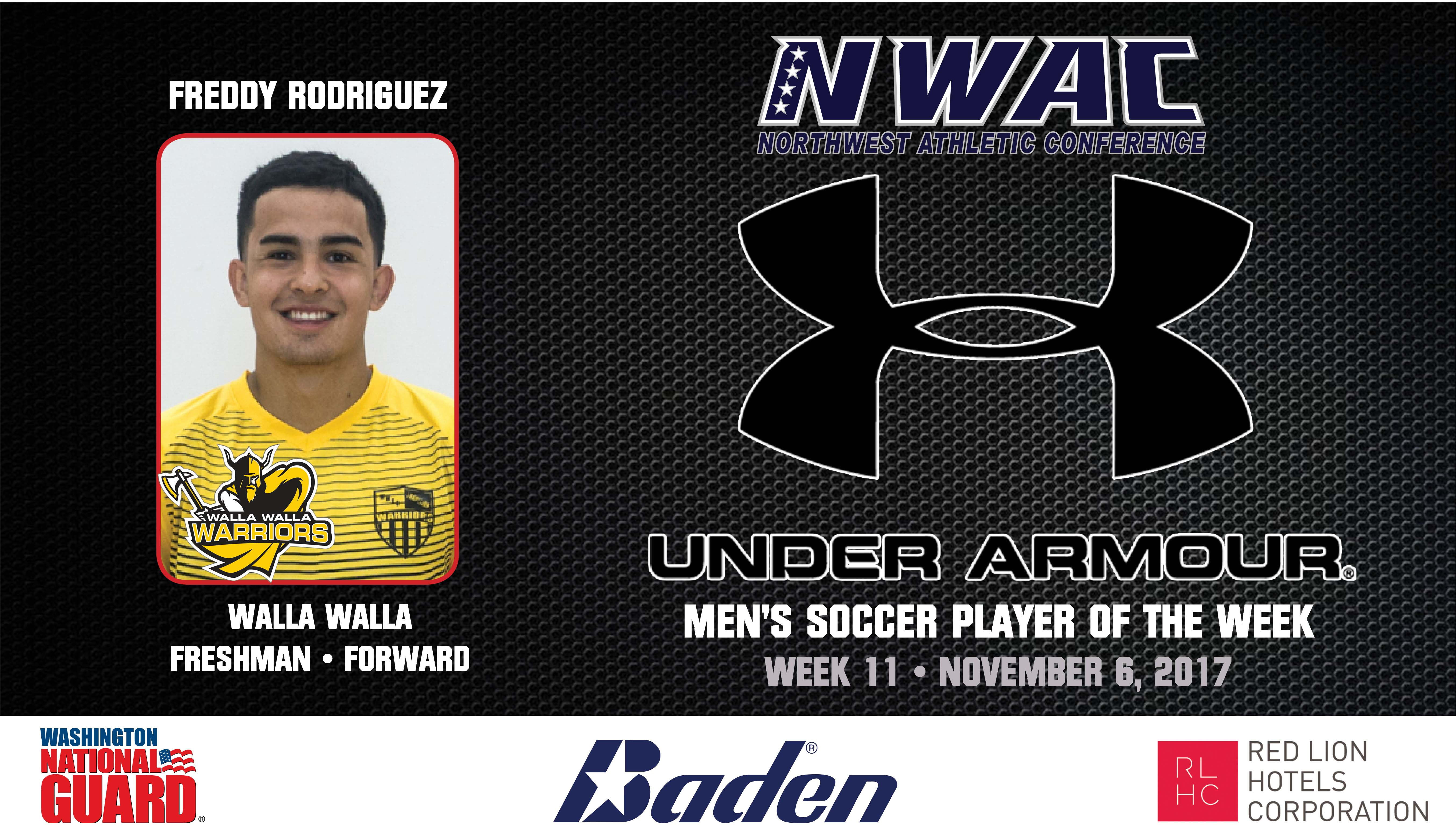 Freddy Rodriguez Armour Player of the Week graphic