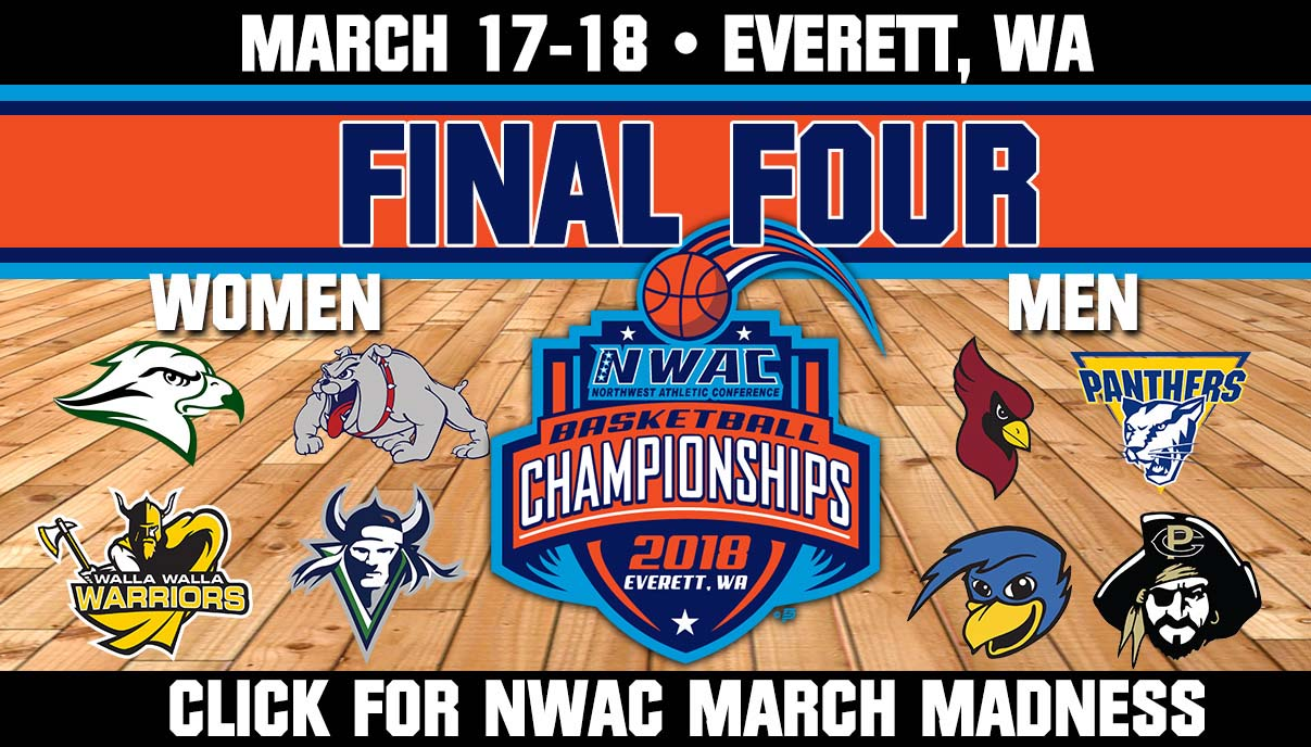 NWAC Basketball Final Four graphic - click for details