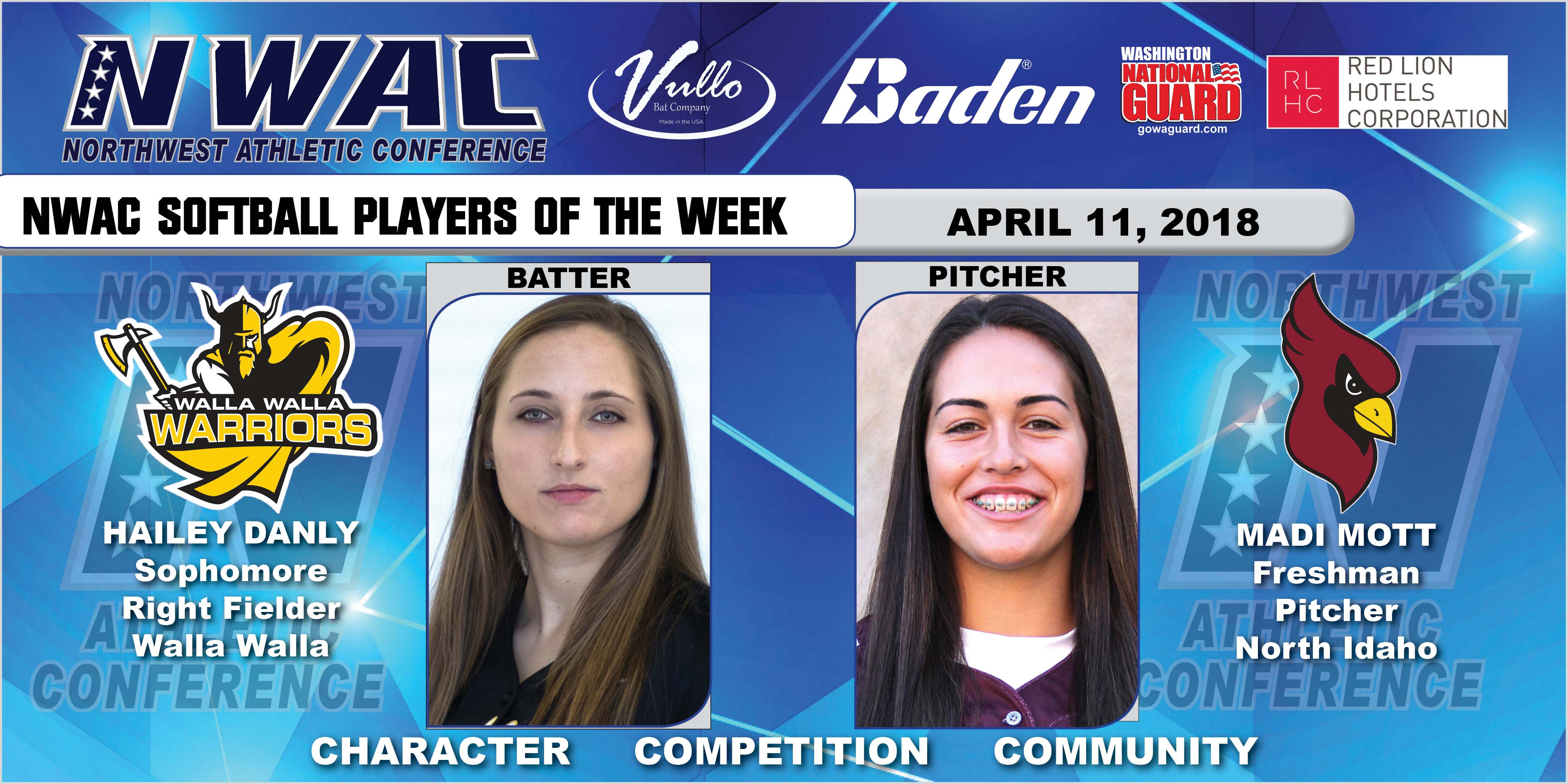 photos of softball players of the week