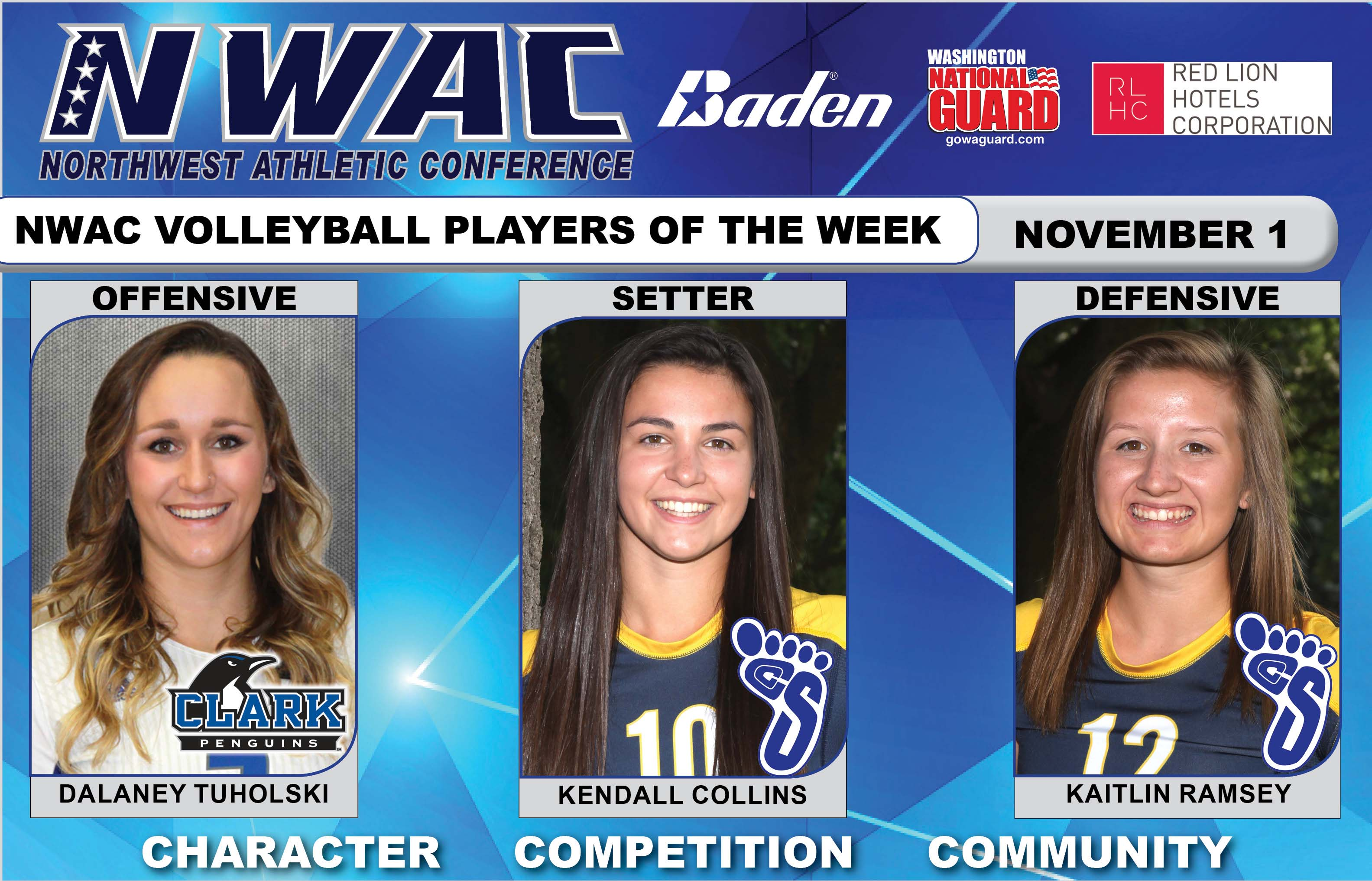 NWAC Players of the Week photo collage