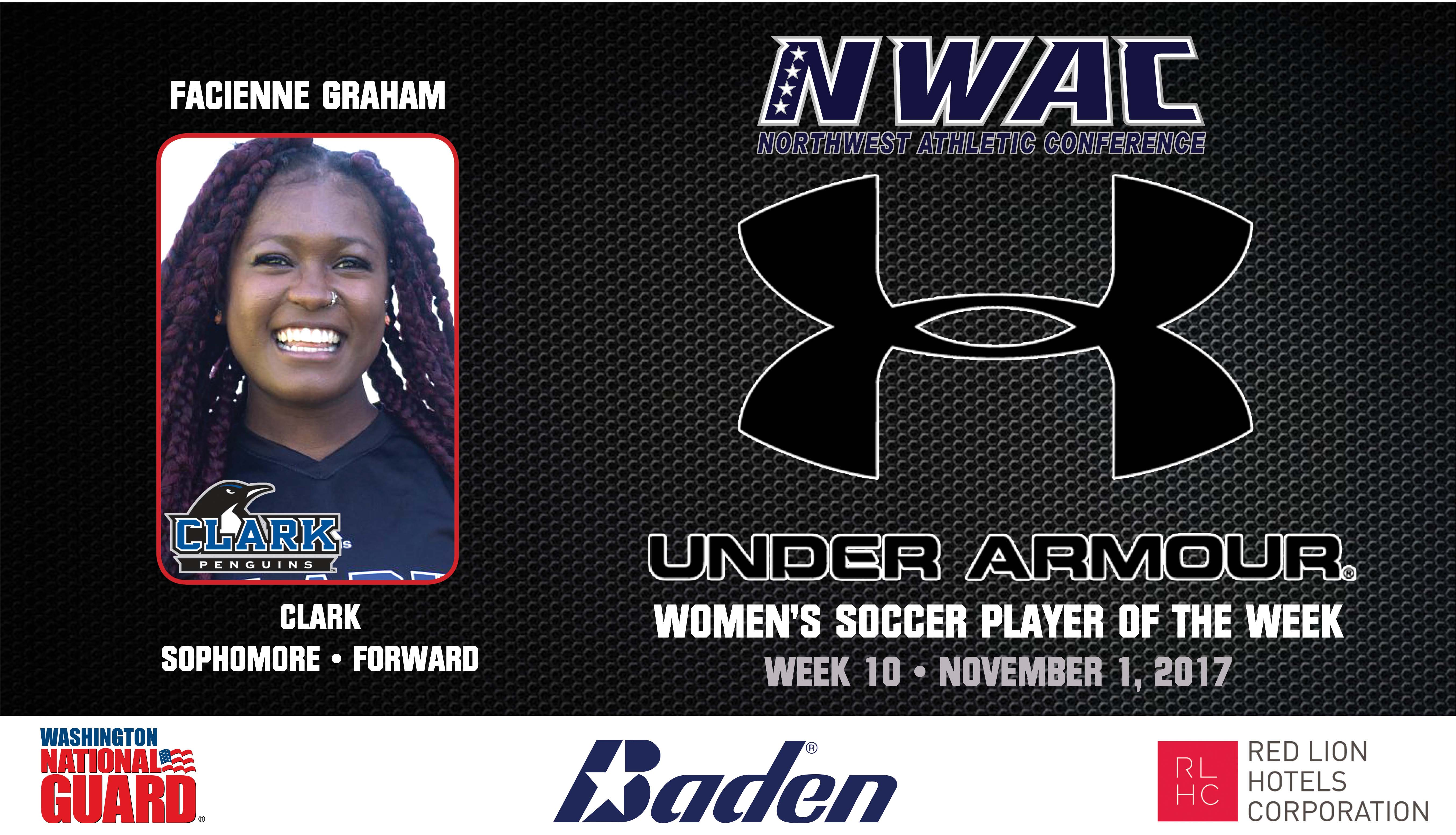 Facienne Graham Armour Player of the Week graphic