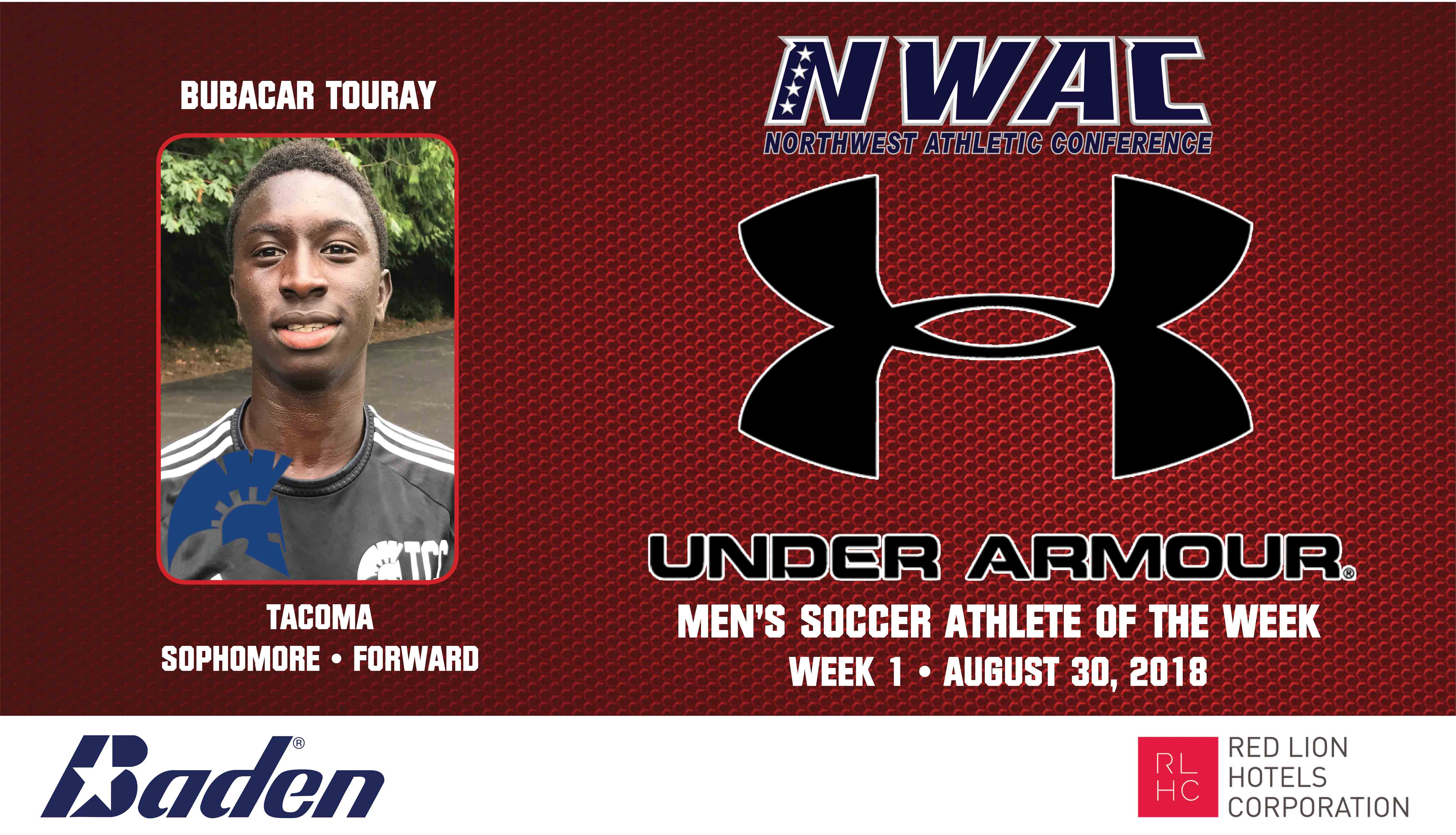 Bubacar Touray Armour Player of the Week graphic