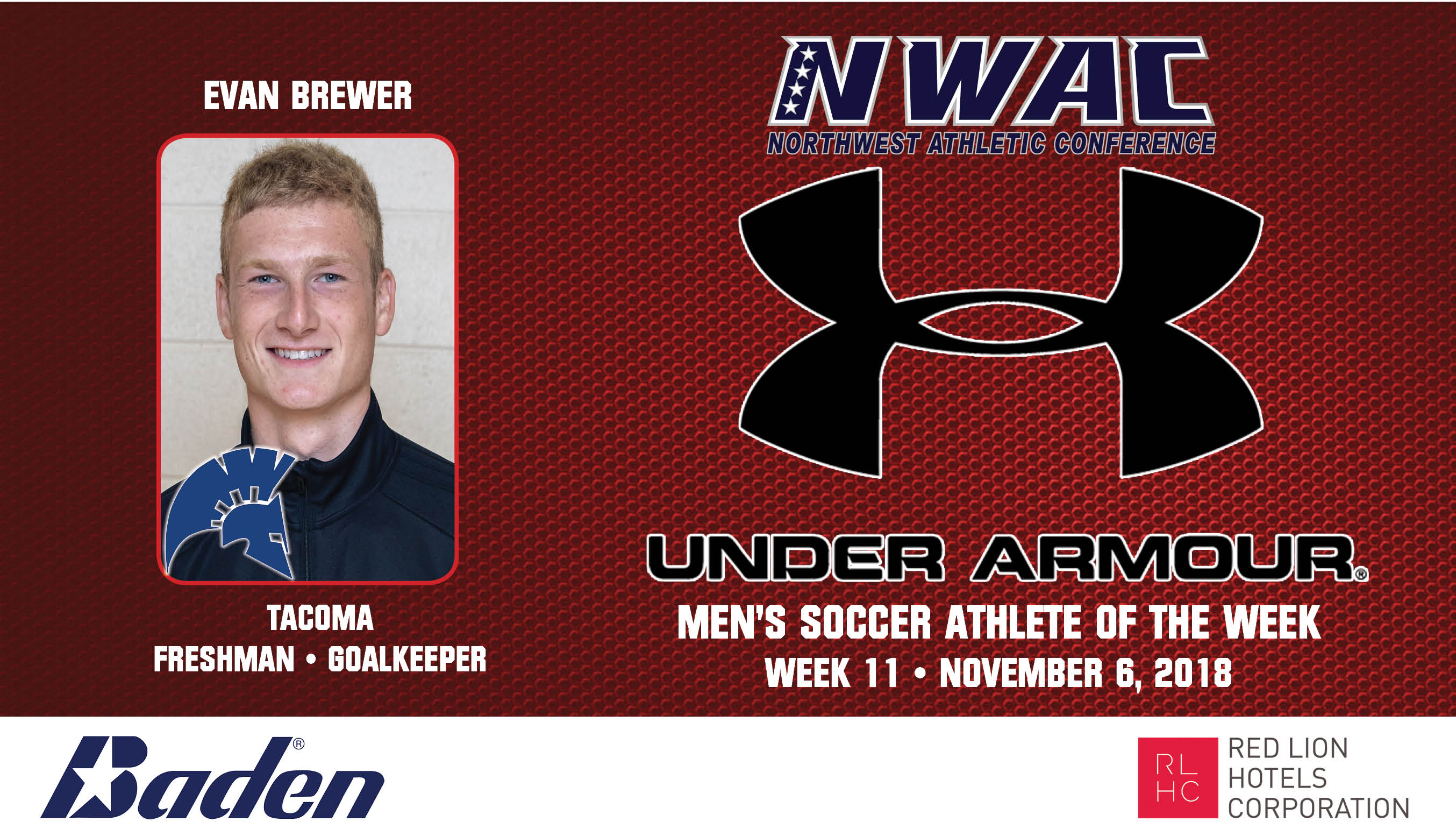 Evan Brewer Armour Athlete of the Week graphic