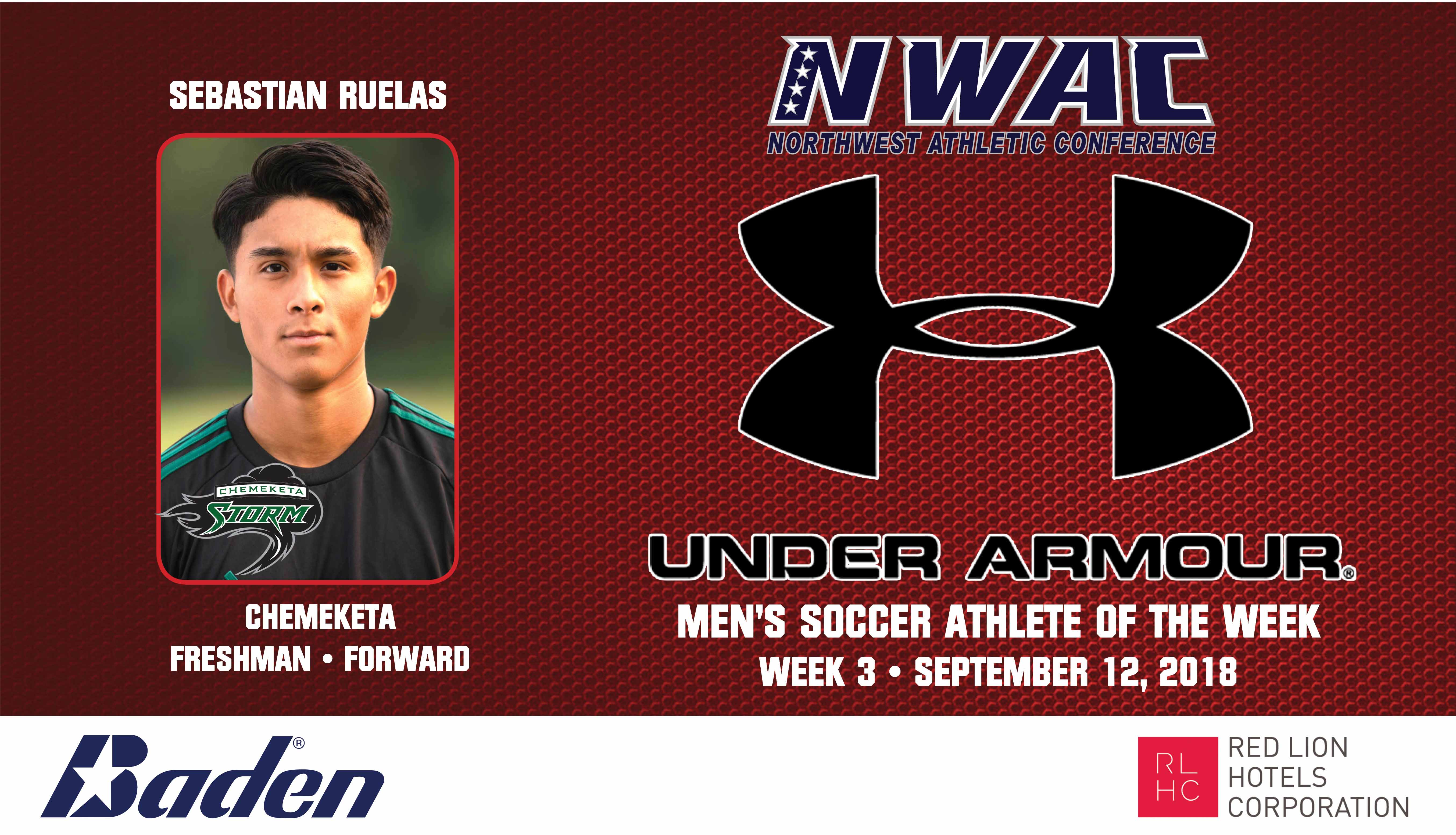 Sebastian Ruelas Armour Player of the Week graphic