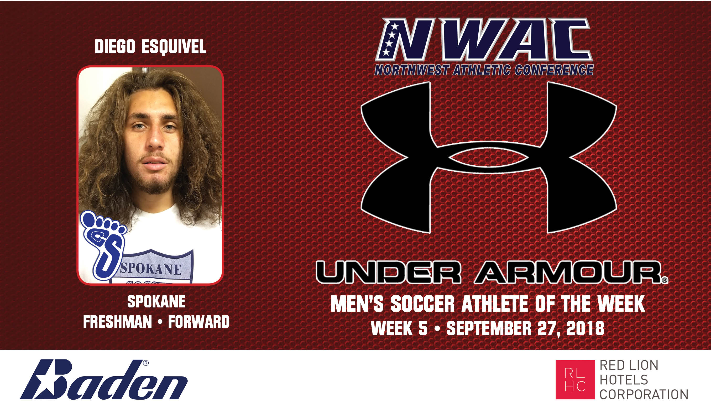 Diego Esquivel Armour Player of the Week graphic