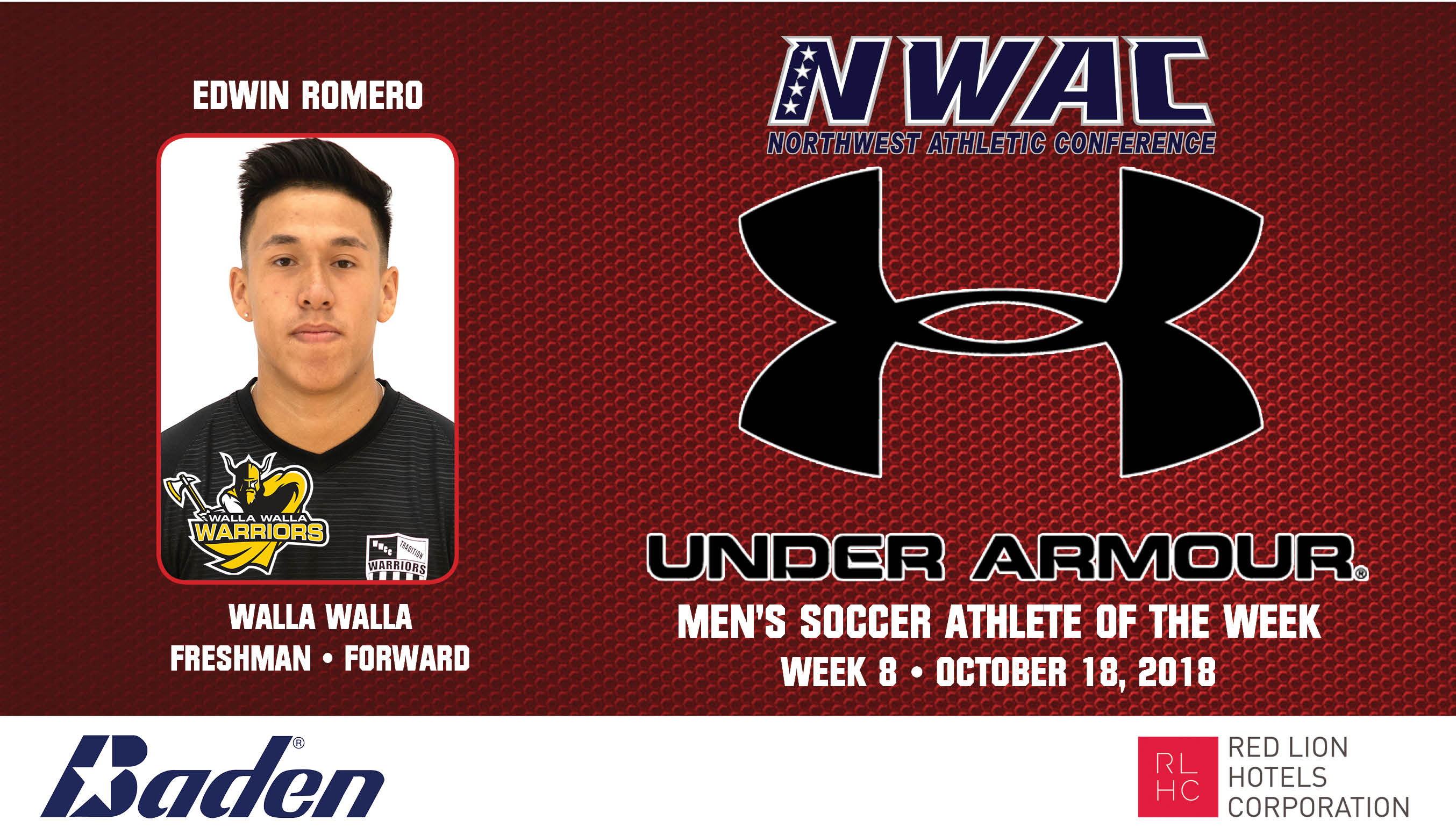 Edwin Romero Armour Player of the Week graphic