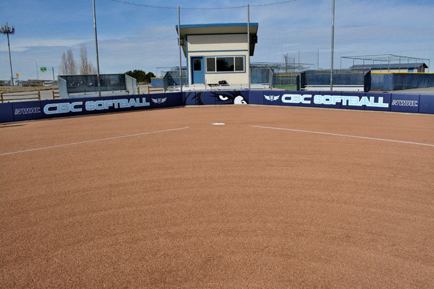 image of home plate CBC softball field