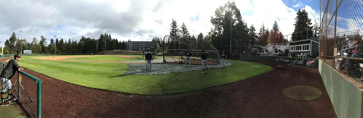 image of showcase batting practive at Bellevue baseball field