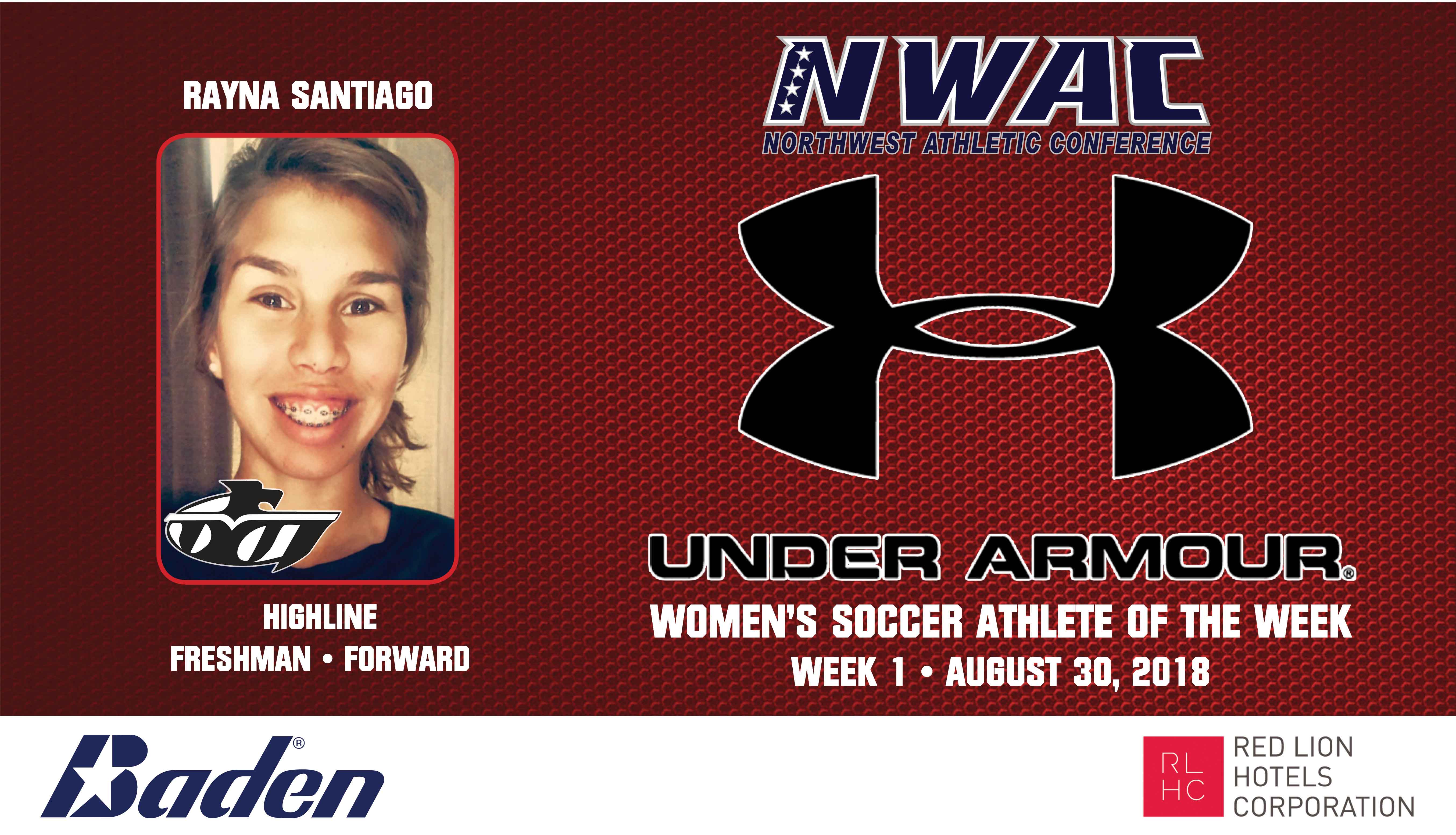 Rayna Santiago Armour Player of the Week graphic