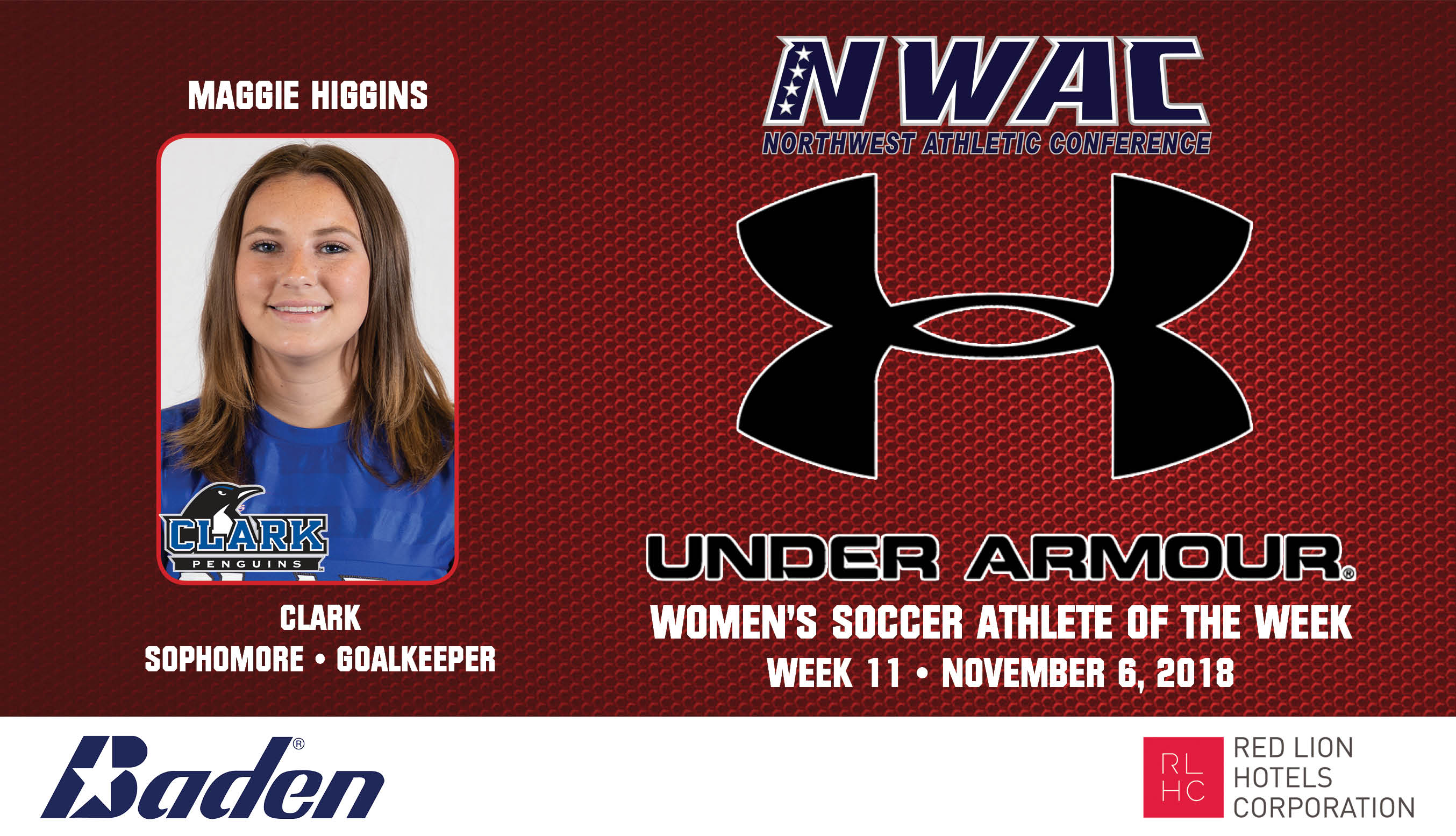 Maggie Higgins Armour Athlete of the Week graphic