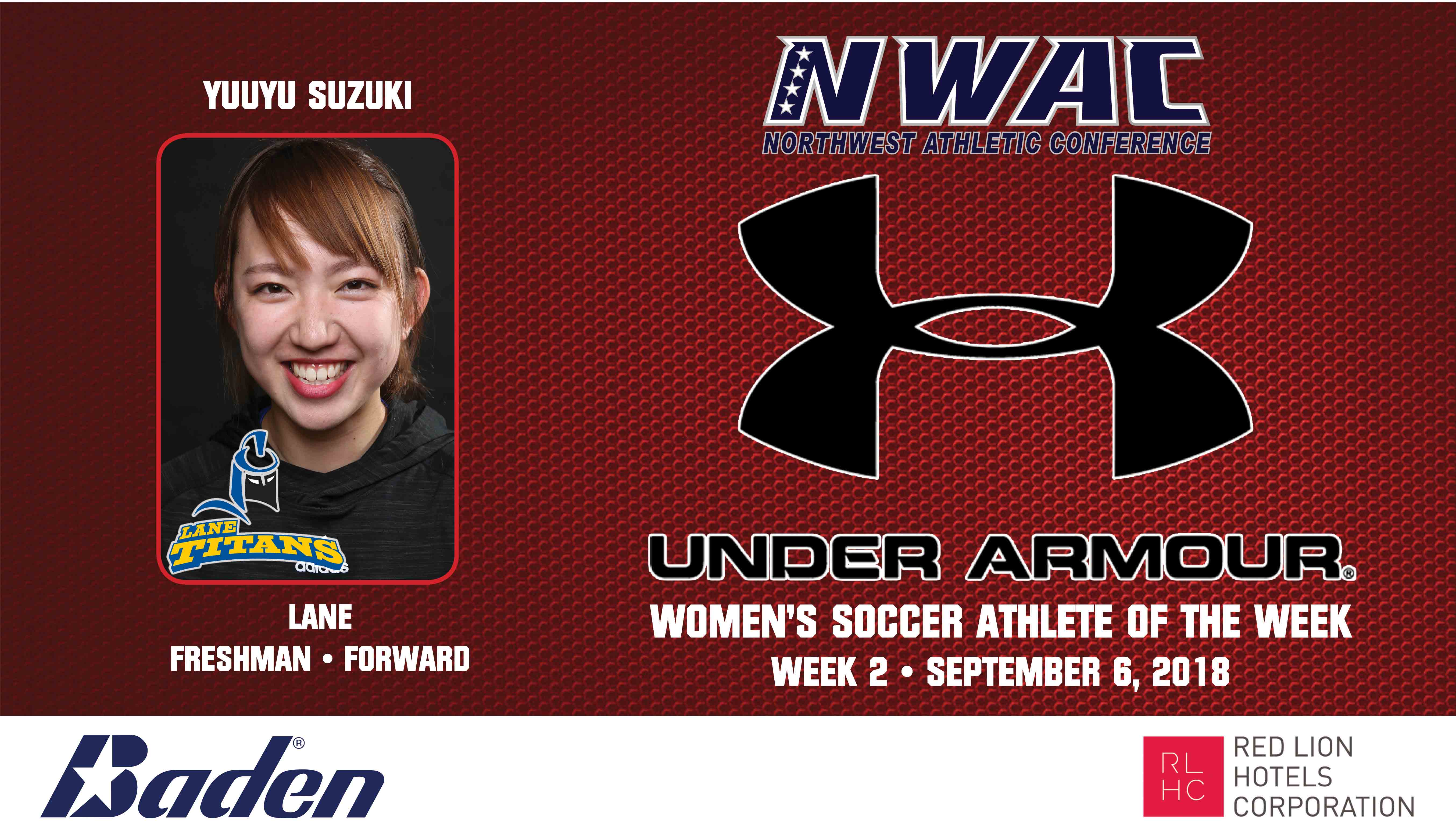 Yuuyu Suzuki Armour Player of the Week graphic