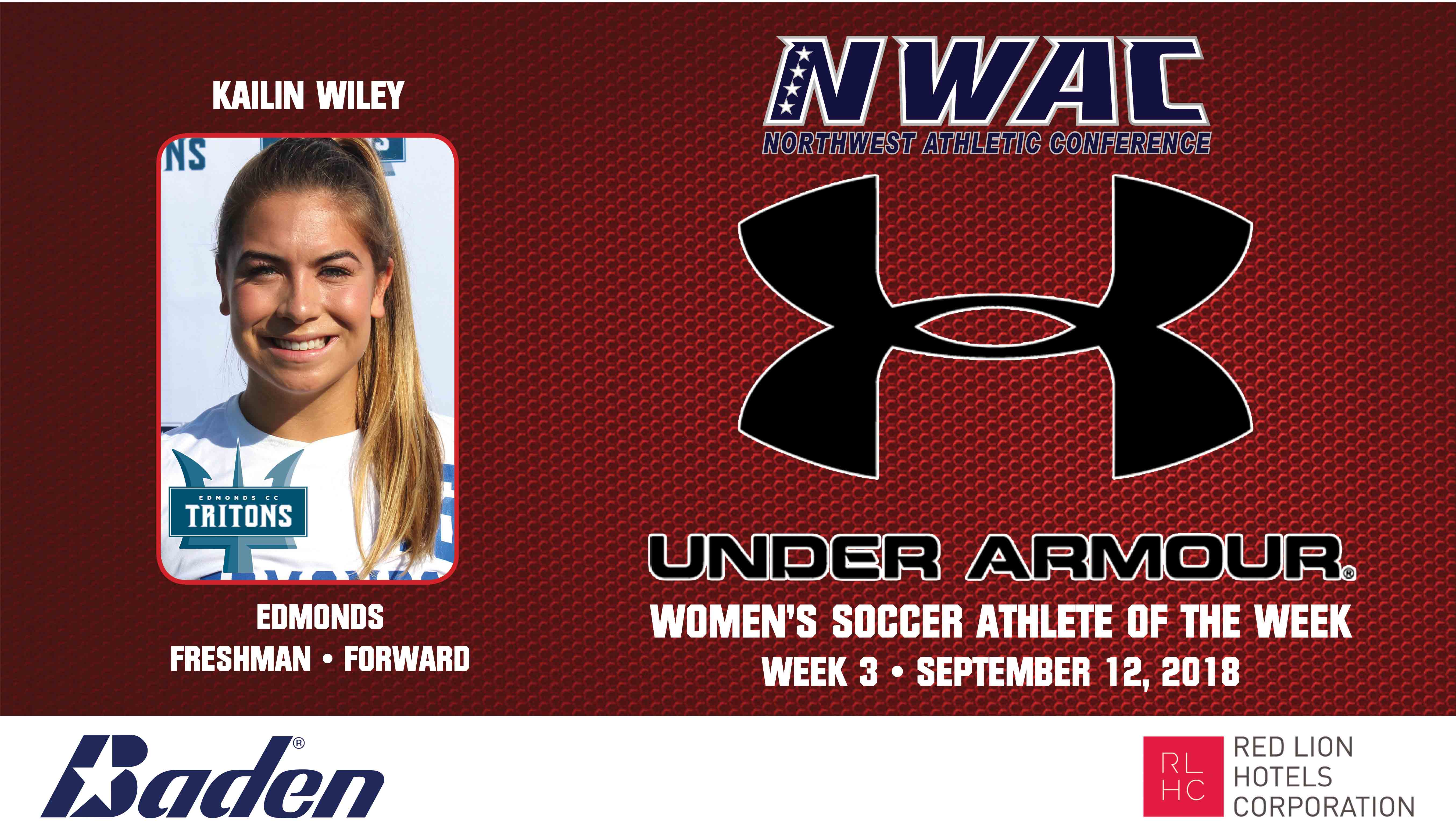 Kailin Wiley Armour Player of the Week graphic