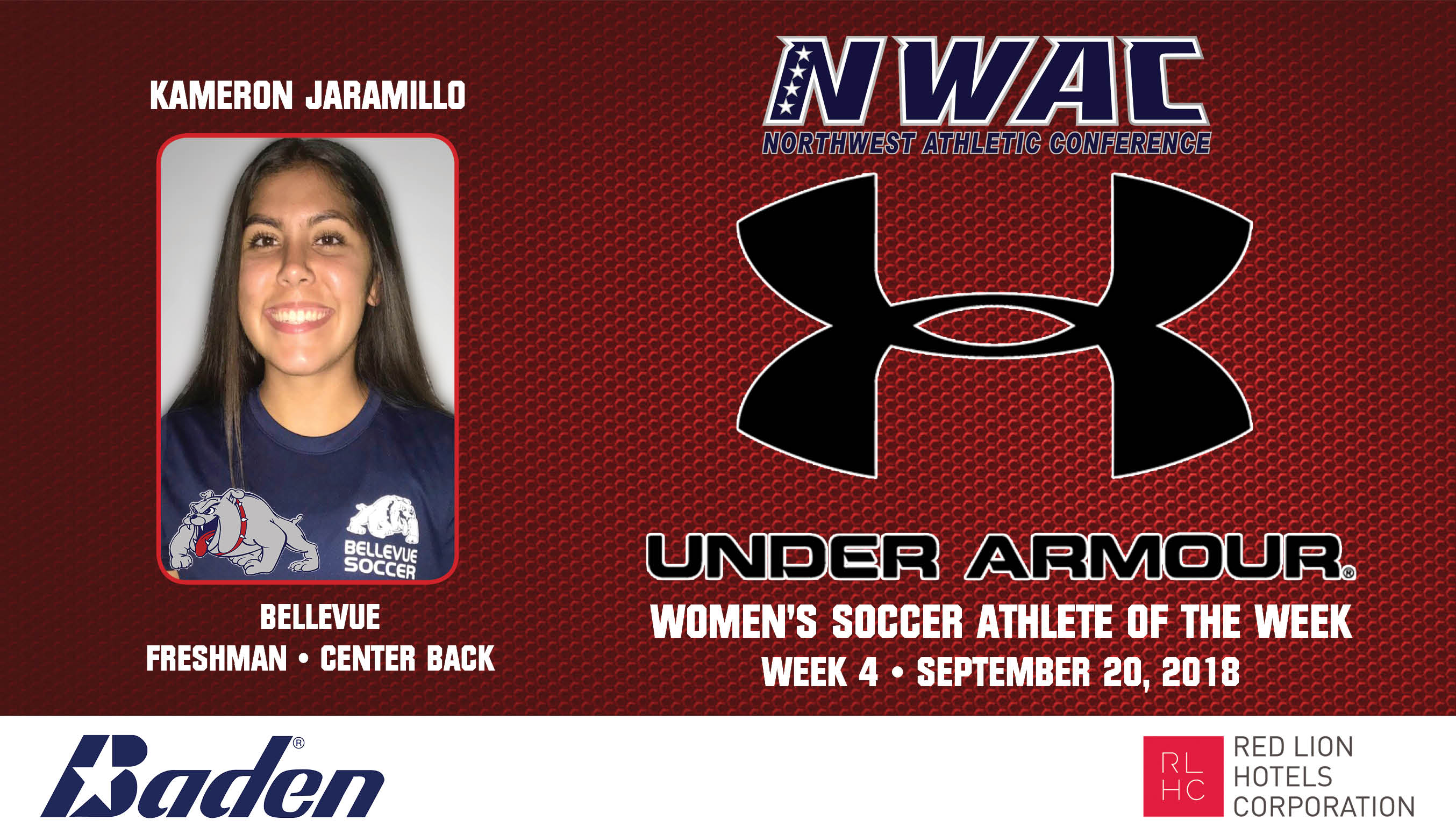 Kameron Jaramillo Armour Player of the Week graphic