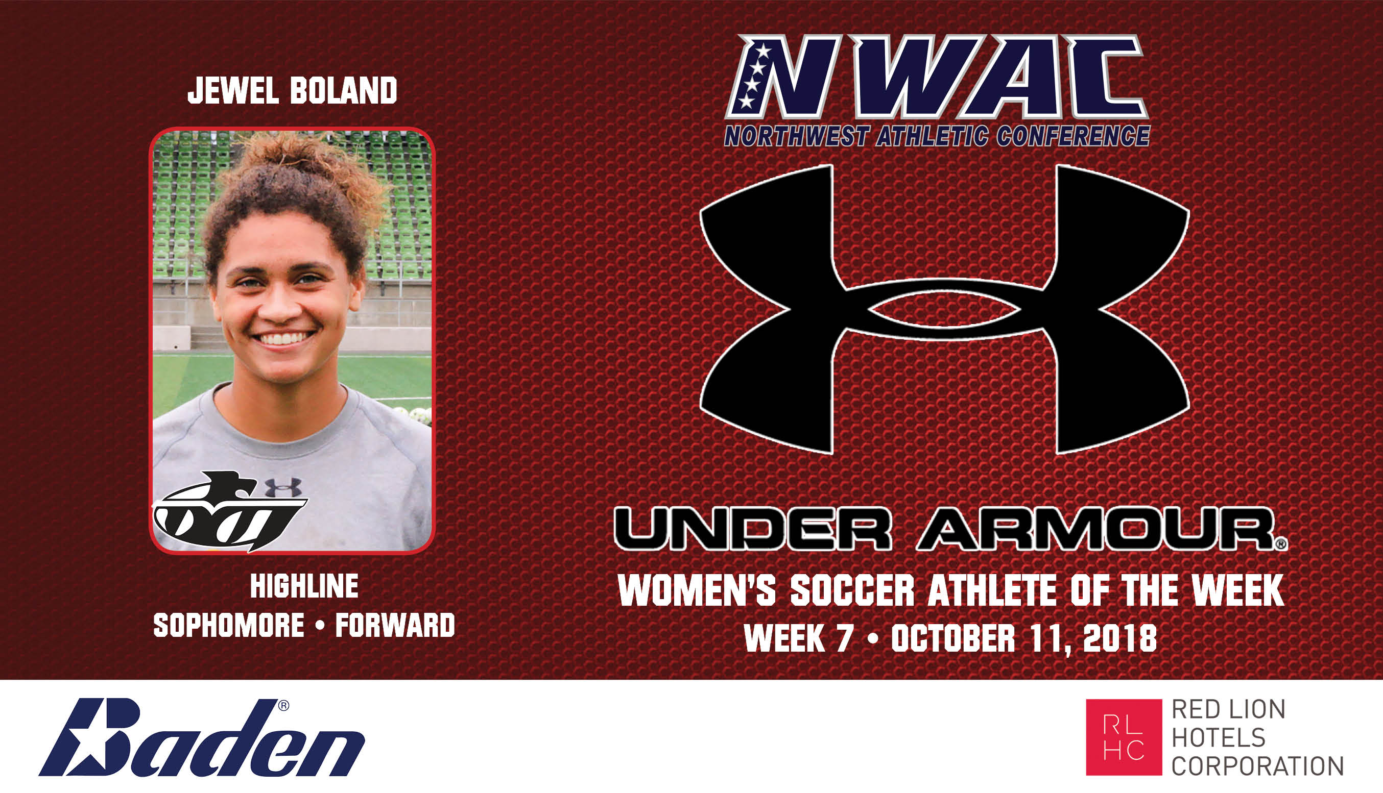 Jewel Boland Armour Player of the Week graphic