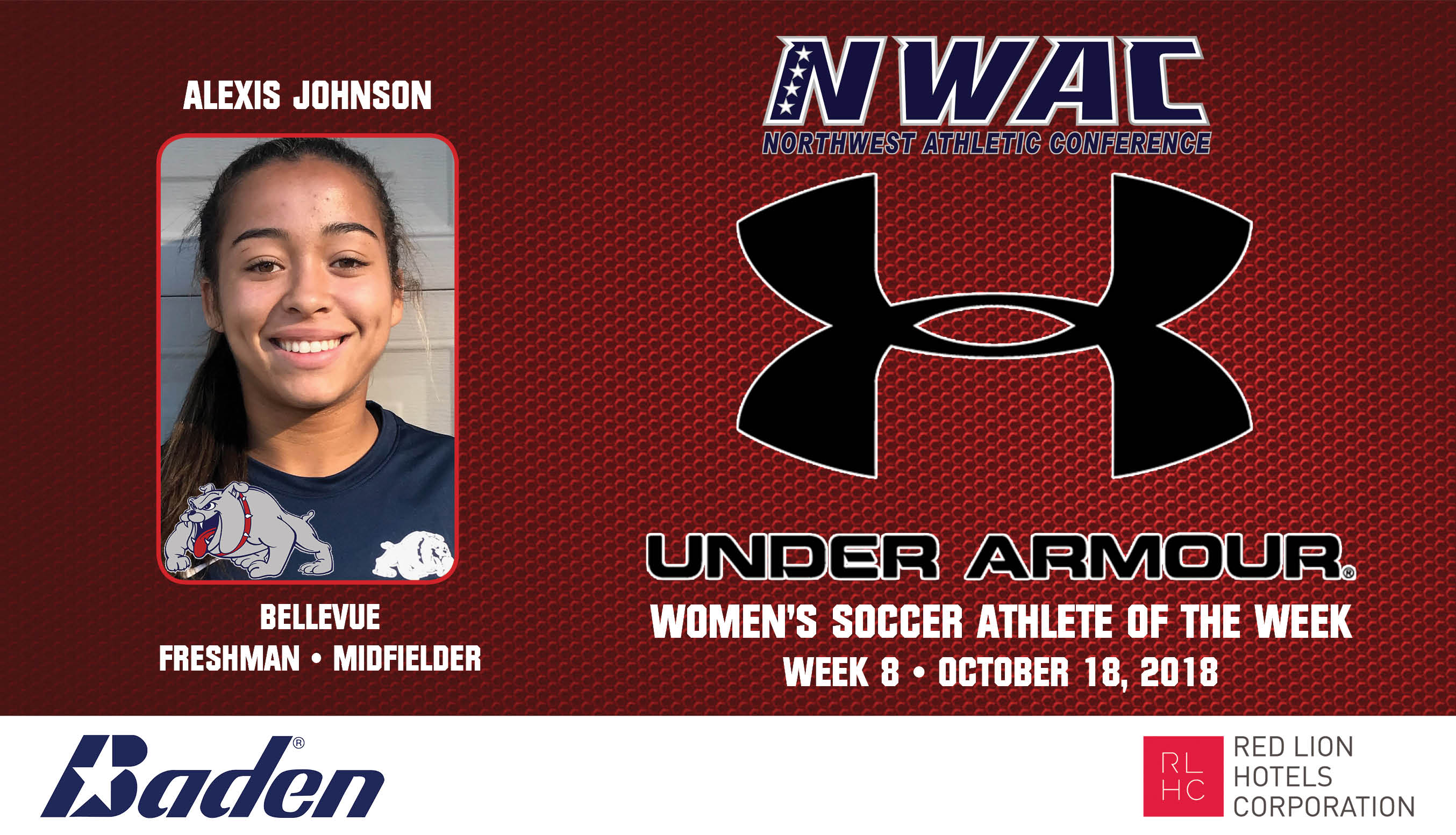 Alexis Johnson Armour Player of the Week graphic