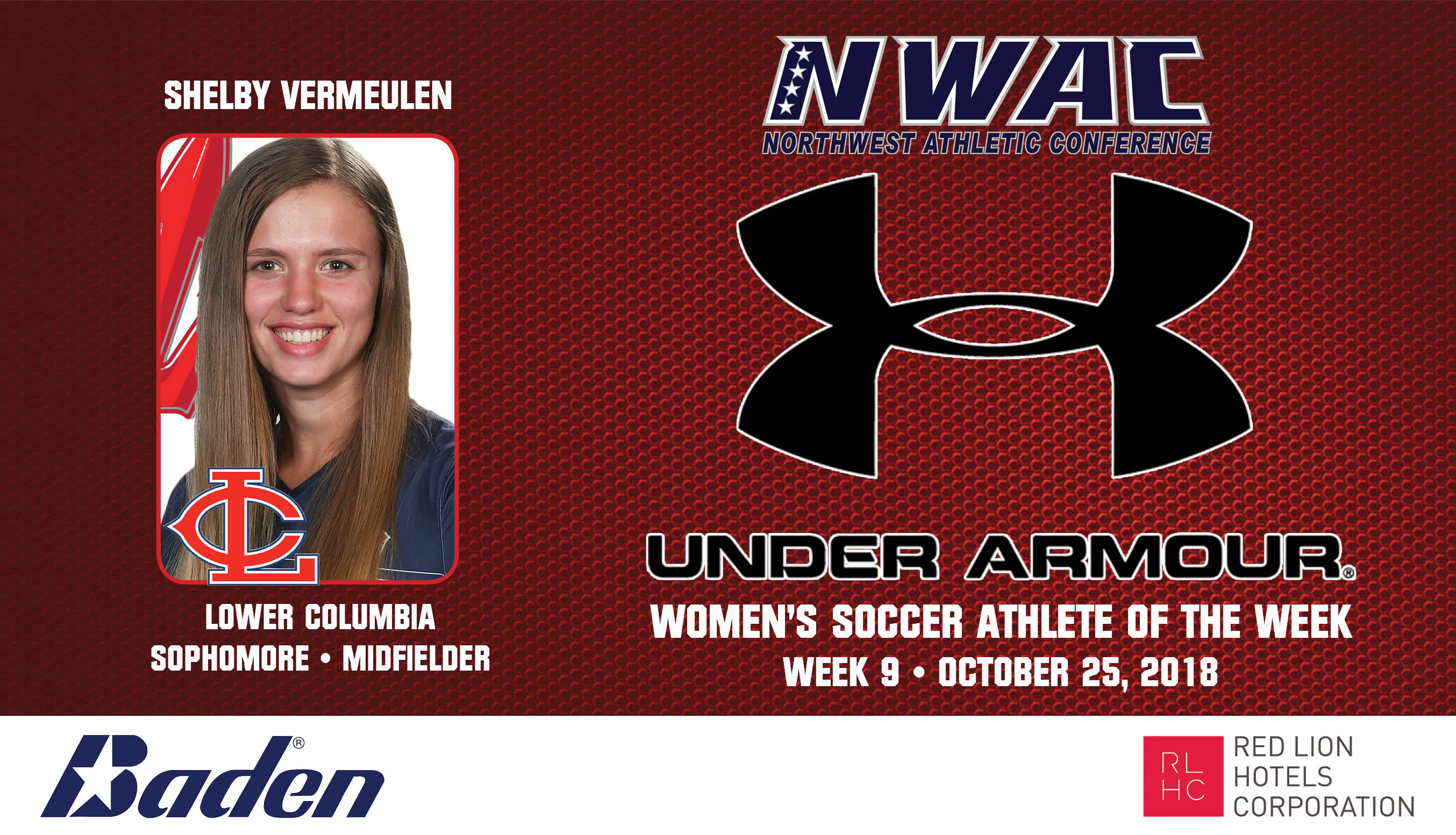 Shelby Vermeulen Armour Player of the Week graphic